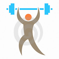 the photo shows a cartoon image of a man holding up a heavy dumbell to symbolise strength and positivity in their job search.